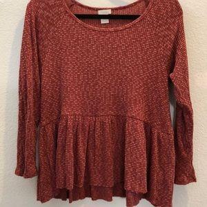 Hinge sweater/thermal. Large